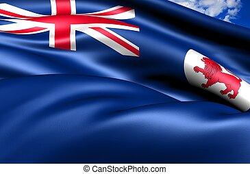 bandiera, di, tasmania, australia.