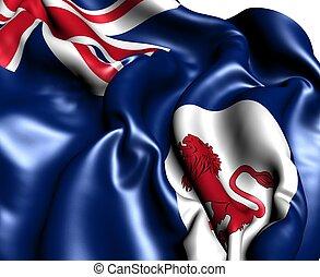 bandiera, di, tasmania