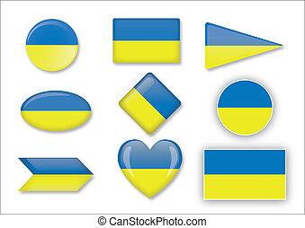 bandiera, di, ucraina