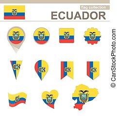 bandiera, ecuador, collezione
