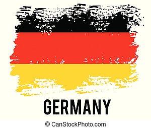 bandiera, eps10., correctly., nazionale, proporzione, ufficiale, germania, flag., illustration., colori, vettore