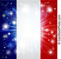 bandiera, francese, fondo