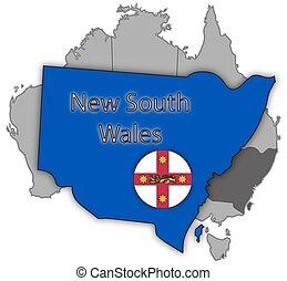 bandiera galles, territorio, sud, nuovo