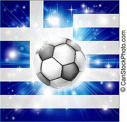 bandiera greca, calcio