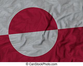 bandiera, groenlandia, arruffato