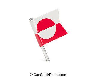 bandiera, groenlandia, perno