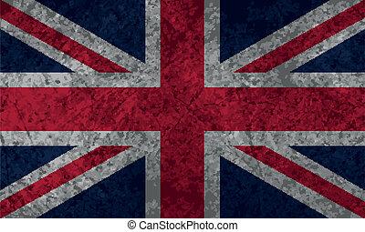 bandiera, grunge, britannico