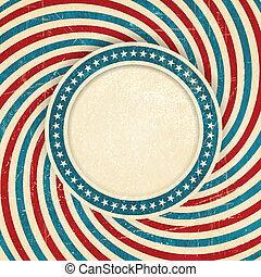 bandiera, grunge, stati uniti, fondo, themed