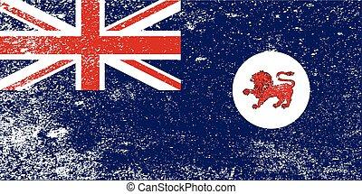 bandiera, grunge, tasmania, stato