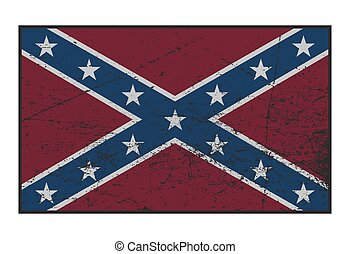 bandiera, grunged, confederato