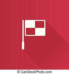 bandiera, -, guardalinee, metro, icona