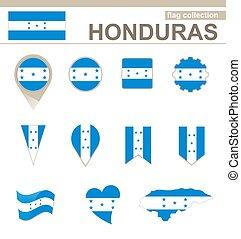bandiera, honduras, collezione