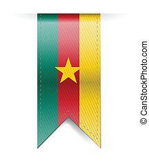 bandiera, illustrazione, bandiera camerun
