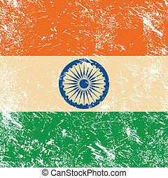 bandiera, india, retro