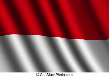 bandiera, indonesiano