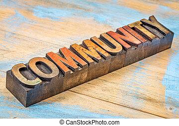 bandiera, legno, tipo, comunità