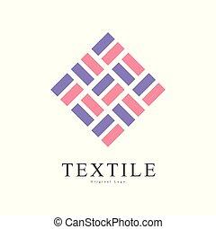 bandiera, manifesto, identità, aviatore, ditta, creativo, mestiere, originale, illustrazione, segno, tessile, vettore, fondo, bianco, negozio, pubblicità, logotipo