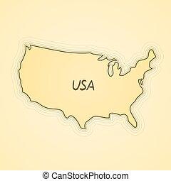 bandiera, map., forma, stati uniti