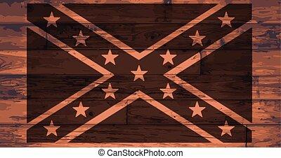 bandiera, marca, confederato
