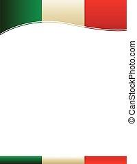 bandiera messicana, bordo, fondo