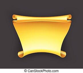 bandiera, nastro oro