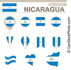 bandiera, nicaragua, collezione