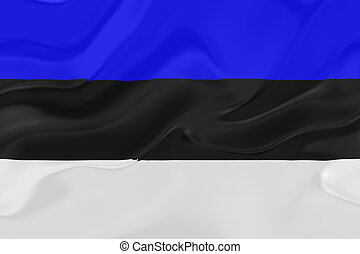 bandiera, ondulato, estonia