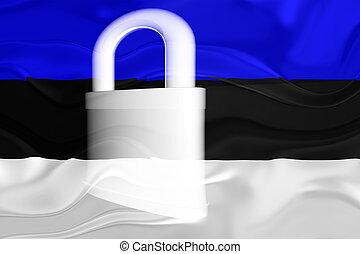 bandiera, ondulato, sicurezza, estonia