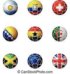 bandiera, palla calcio