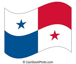 bandiera, panama, ufficiale, proporzione, colori, bandiera, correctly., nazionale