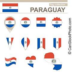 bandiera paraguay, collezione