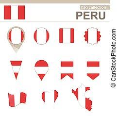 bandiera, perù, collezione