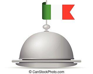 bandiera, piatto da portata, italiano