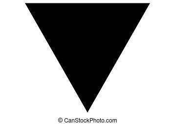 bandiera, rettangolare, forma, fondo, bianco, icona