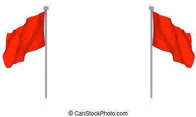 bandiera, rosso