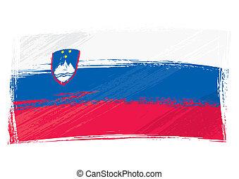 bandiera slovenia, grunge