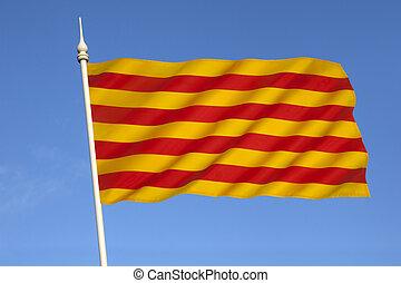 bandiera, -, spagna, catalogna