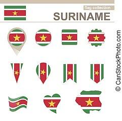 bandiera, suriname, collezione