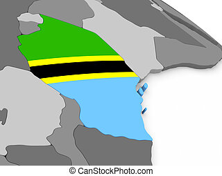 bandiera tanzania, globo