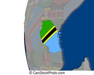 bandiera, tanzania, nazionale