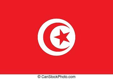 bandiera, tunisia, fondo., nazionale