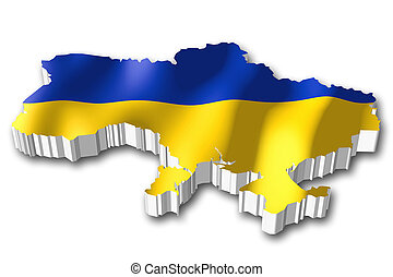 bandiera ucraina, -, 3d
