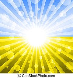 bandiera ucraina, colorare, ., astratto, luce, fondo