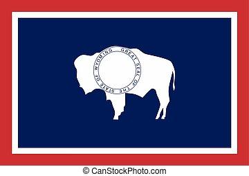 bandiera, usa., formato, wyoming, stato, vettore