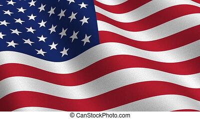 bandiera usa, seamless, cappio