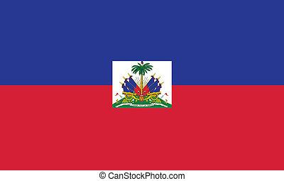 bandiera, vettore, haiti, illustrazione