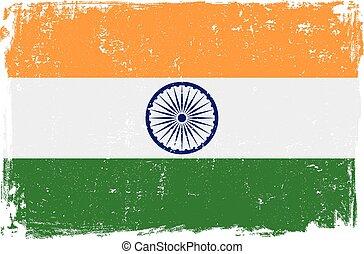 bandiera, vettore, india