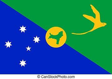bandiera, vettore, island., natale