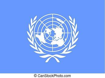 bandiera, vettore, nazioni unite