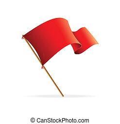 bandiera, vettore, red., icone